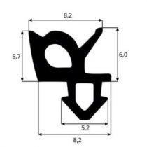 műanyag ablak gumitömítés S 917 (S-1387)